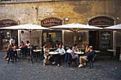 Café Farnese,Piazza Farnese, Rom, Italien