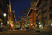 Old Town in the evening, Kitzbühel, Tirol, Austria