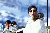 Skifahrerin - Ski Hut Faloria,Cortina D' Ampezzo, Dolomiten, Italien