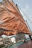 Traditional Junk Sail,Hong Kong Harbour, Hong Kong