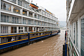 MV Victoria Prince seen from MV Victoria Queen, Victoria Cruises, Sandouping, Yichang, Xiling Gorge, Yangtze River, China