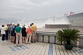 Tourists at Three Gorges Dam,Sandouping, Yichang, Xiling Gorge, Yangtze River, China