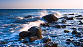 Rocks and waves, Fehmarn Island, Schleswig-Holstein, Germany