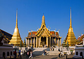 Prasat Phra Thep Bidon, Royal Pantheon, Wat Phra Kaew, the most important Buddhist temple of Thailand, Ko Ratanakosin, Bangkok, Thailand