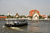 Public ferries on river Menam Chao Phraya, Bangkok, Thailand