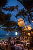 Open-air terrace of the restaurant Eat Sense, Chaweng Beach, Hat Chaweng South, Ko Samui, Thailand