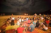 Full Moon Party at beach, Hat Rin Nok, Sunrise Beach, Ko Pha-Ngan, Thailand