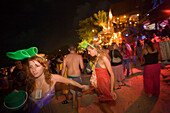 Young people at a Full Moon Party, Hat Rin Nok, Sunrise Beach, Ko Pha-Ngan, Thailand