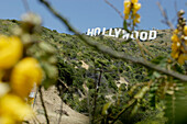 Hollywood sign, emblem, Los Angeles, L.A., Caifornia, U.S.A., United States of America