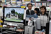 Family, Shop, Computer, electronic equipment,TV set,  East Shinjuku, Tokyo, Japan