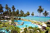 View over Pee Pee Island Village Beach Resort and Spa, Ko Phi Phi Don, Ko Phi Phi Islands, Krabi, Thailand, after the tsunami