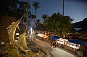 View over Ko Phi Phi Don in the evening, Ko Phi Phi Don, Ko Phi Phi Island, Krabi, Thailand (after the tsunami)