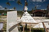 Reminder of tsunami on December 26, 2004, Ko Phi Phi Don, Ko Phi Phi Island, Krabi, Thailand