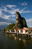View to Ko Panyi, Muslim fishing village, Phang-Nga Bay, Ao Phang Nga Nation Park, Phang Nga, Thailand
