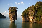 View to Koh Tapu, so-called James Bond Island, The Man with the Golden Gun, Ko Khao Phing Kan, Phang-Nga Bay, Ao Phang Nga Nation Park, Phang Nga, Thailand
