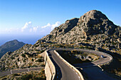 Road to Sa Calobra, known as the tie knot, Serra de Tramuntana, Mallorca, Spain