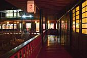 Courtyard, prayer hall, Wannian monastery and temple, pilgrims hostel, China, Asia, World Heritage Site, UNESCO