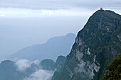 new Wan Fo Ding pagoda, summit of Emei Shan mountains, World Heritage Site, UNESCO, China, Asia