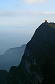 view across to new Wan Fo Ding pagoda, summit of Emei Shan mountains, World Heritage Site, UNESCO, China, Asia
