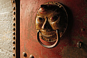 Door knocker at the entrance of the hanging monastery, Heng Shan North, Shanxi province, China, Asia
