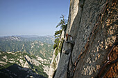 vertical stone cliffs, Taoist mountain, Hua Shan, Shaanxi province, Taoist mountain, China, Asia