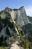 view from North Peak, Taoist mountain, Hua Shan, Shaanxi province, China, Asia