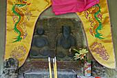 Earth gods, Yaoshi Temple, Bodhisvattva Kshitigarbha, Jiuhuashan, Mount Jiuhua, mountain of nine flowers, Jiuhua Shan, Anhui province, China, Asia