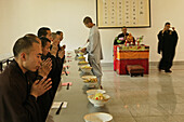 dining hall, Buddhist College, Ganlu Temple, Jiuhua Shan Village, Jiuhuashan, Mount Jiuhua, mountain of nine flowers, Jiuhua Shan, Anhui province, China, Asia