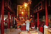 Avalokiteshvara Monastery, Jiuhua Shan, Anhui province, Jiuhuashan, Mount Jiuhua, mountain of nine flowers, China, Asia