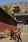 kitchen, outdoor, side wing, Fa Wang monastery, Taoist Buddhist mountain, Song Shan, Henan province, China, Asia