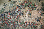 wall mural, painting, Tai Shan, Shandong province, Taishan, Mount Tai, China, Asia, World Heritage, UNESCO