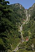 steep climb, Stairway to Heaven, Tai Shan, Shandong province, Taishan, Mount Tai, China, Asia, World Heritage, UNESCO