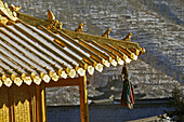 Copper Palace, Pagoda, Xian Tong Temple, oldest monastery, Wutai Shan, Five Terrace Mountain, Buddhist Centre, town of Taihuai, Shanxi province, Chna, Asia