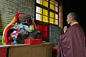earth mother, Santa Monastery, Wutai Shan, Buddhist holy Mountain, Shanxi province, China, Asia
