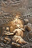 Relief of St John Nepomuk found on Charles Bridge, Prague, Czech Republic