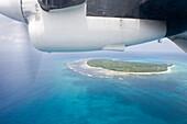 Aerial Photo of Twin Otter Engine & Denis Island,Denis Island, Seychelles