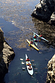 Sea Kayaking at Point Lobos, Point Lobos State Resevre, Carmel, California, USA