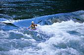 Kayaking on South Fork Payette River, Near Banks, Idaho, USA