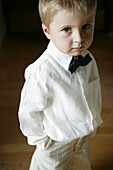 Young boy with bow tie