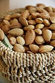 Almonds in a basket, Italia
