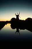 Windmil in the evening, Greetsiel, East Friesland, Lower Saxony, Germany