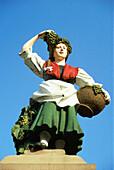 Female like fountain figure, Traben-Trarbach, River Mosel, Rhineland-Palatinate, Germany