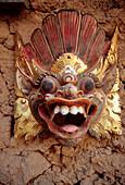head of a dragon, mask, bali, indonesia