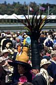 Fashion Contest at Melbourne Cup Horse Races, Flemington Racecourse, Melbourne, Victoria, Australia