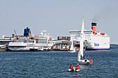 MS Bremen & Stena Scandinavica Ferry at Kiel Pier, Kiel, Schleswig-Holstein, Germany