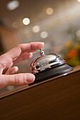 Ringing Reception Bell,Aboard MS Bremen Cruise Ship, Hapag-Lloyd Kreuzfahrten, Germany