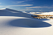 dunes, light and shadow, gypsum dune field, White Sands National Monument, New Mexico, USA