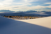 Light and shadow in the dunes, White Sands National Monument, Chihuahua desert, New Mexico, USA, America