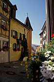 Alleyway in Engen, Spendgasse, Lake Constance, Baden-Wurttemberg, Germany