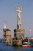 Imperia Statue at Constance Harbour, Lake Constance, Baden Wurttemberg, Germany